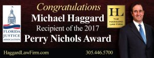 Michael Haggard Awarded Perry Nichols Award
