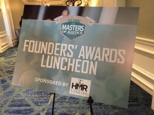 Founders Awards Luncheon sign