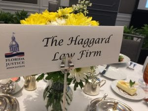 Haggard Law Firm table marker